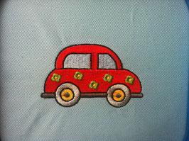 Stickdatei Auto mit Blümchen lieb