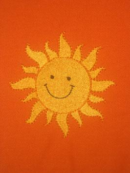 Stickdatei Sonne mit Gesicht