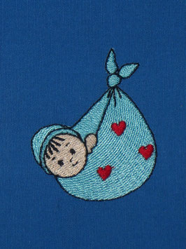 Stickdatei Baby im Tuch Mini