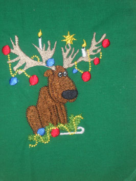 Stickdatei Elch als Weihnachtsbaum