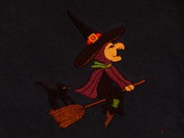 Stickdatei Hexe auf Besen
