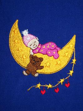 Stickdatei Baby auf Mond