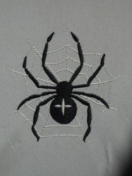 Stickdatei Spinne im Netz