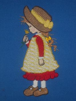 Stickdatei Blumenmädchen