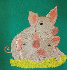 Stickdatei  Schweinchen Familie 2
