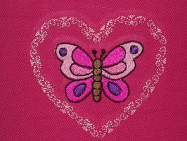 Stickdatei Schmetterling mit Herzchen