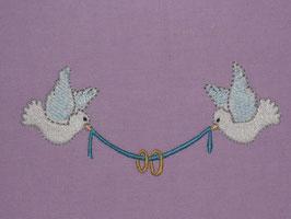Stickdatei Hochzeitsmotiv mit Tauben