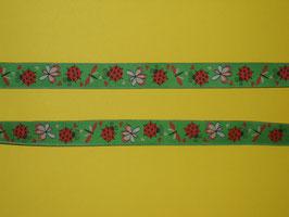 Webband Marienkäferli grün 2 Meter