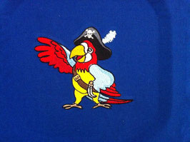 Stickdatei Papagei als Pirat