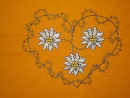 Stickdatei Edelweiss mit Herz