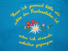 Stickdatei Edelweiss mit Blümchen Spruch