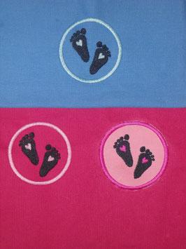 Stickdatei Babyfüsse mit und ohne Applikation