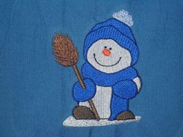 Stickdatei Schneemann mit Besen