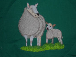 Stickdatei Schaf mit Jungem gross