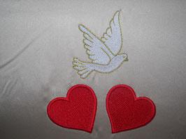 Stickdatei Hochzeitsmotiv mit Herzen