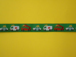 Webband Fahrzeuge grün 2 Meter
