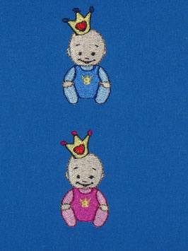 Stickdatei Baby mit Krönchen