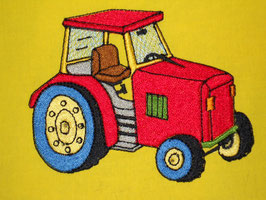 Stickdatei Traktor rot