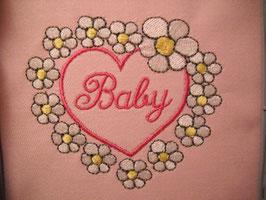 Stickdatei Blumenherz Baby