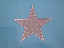 Stickdatei Stern mit Stoff 10 cm