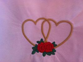 Stickdatei Herzen mit Rosen