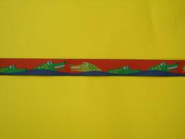 Webband Krokodil rot 2 Meter