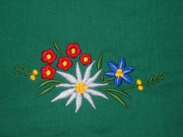 Stickdatei Edelweiss mit Blümchen