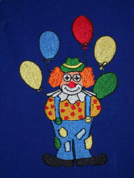 Stickdatei Clown mit Ballons
