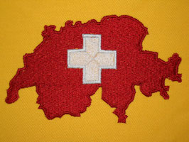 Stickdatei Schweizerkarte mit Kreuz