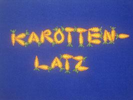 Stickdatei Karottenlatz Schrift