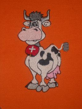 Stickdatei Schweizer Kuh mit Glocke