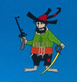 #Stickdatei Räuber mit Schwert und Waffe