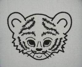 #Stickdatei Tigerbaby Kontur