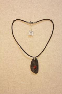Halskette mit Keramik-Treibholzanhänger
