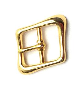 FIBBIA IN ZAMA obliqua con passante oro 20mm