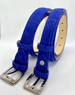 Cintura serpente nabukato donna 2,5  e 3 cm blu cobato
