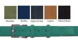 Cintura in camoscio  3,5 cm