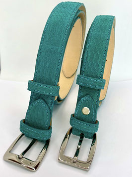 Cintura serpente nabukato donna 2,5  e 3 cm verde smeraldo