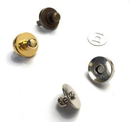 CHIUSURE A CALAMITA CON GEMELLO  diametro 19 mm