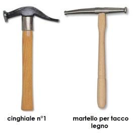 Martelli  calzolaio cinghiale N.1 e tacco legno -