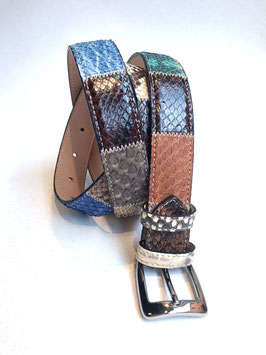 Cintura pitone pachwork 3 cm
