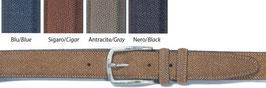 Cintura in camoscio STAMPA TAPIRO  3,5 cm