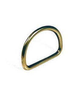 Mezzi anelli in Ottone Fuso