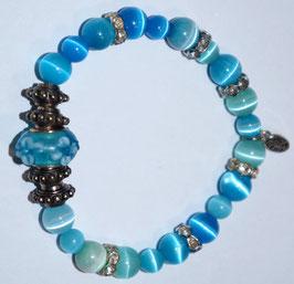 Handmade cateye bracelet
