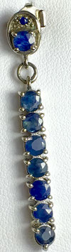 Pendant with sapphires, 2,05 ct.