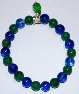 Handmade bracelet with quartz and aventurine beads