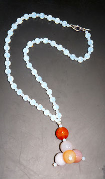 Handmade opal and agate necklace