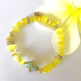 handmade cat eye bracelet, 17,5 cm