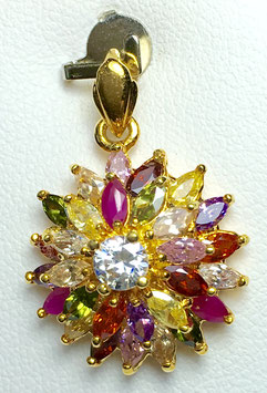 Pendant with different gemstones