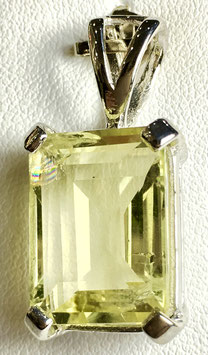 Pendant with lemon quartz, 8,95 ct.